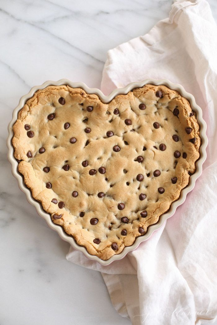 thick, chewy and delicious chocolate chip cookie cake recipe
