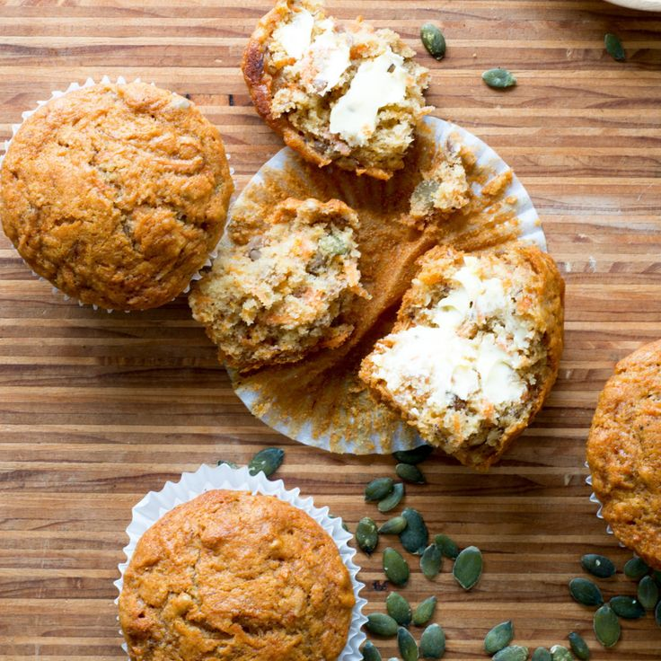 These muffins are light and fluffy, and full of orange flavour. They're also high in fibre, dairy, gluten and refined sugar-free