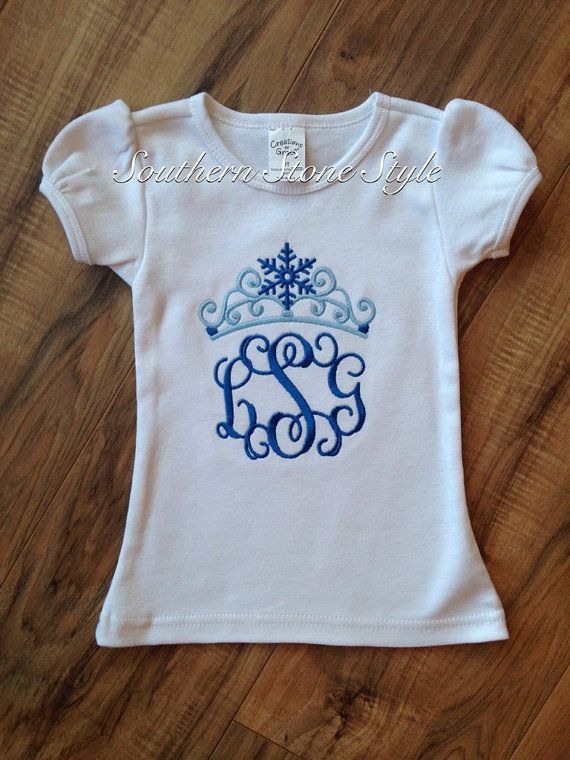 Frozen shirt Elsa crown monogrammed shirt by SouthernStoneStyle