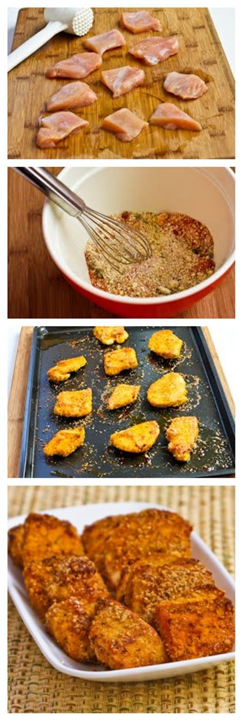 South Beach Diet Friendly Chicken Nuggets with Almond Meal