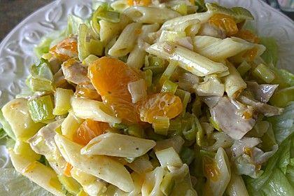 Geflügel - Nudel - Salat mit Mandarinen