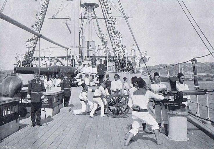 Osmanlı savaş gemisi,bahriyeliler 1897