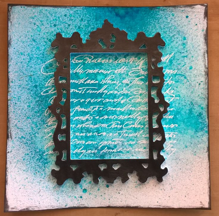 Mixed media for JCC challenge. Sizzix frame die, Dylusions spray. http://jehkotarcraftchallenge.blogspot.fi/