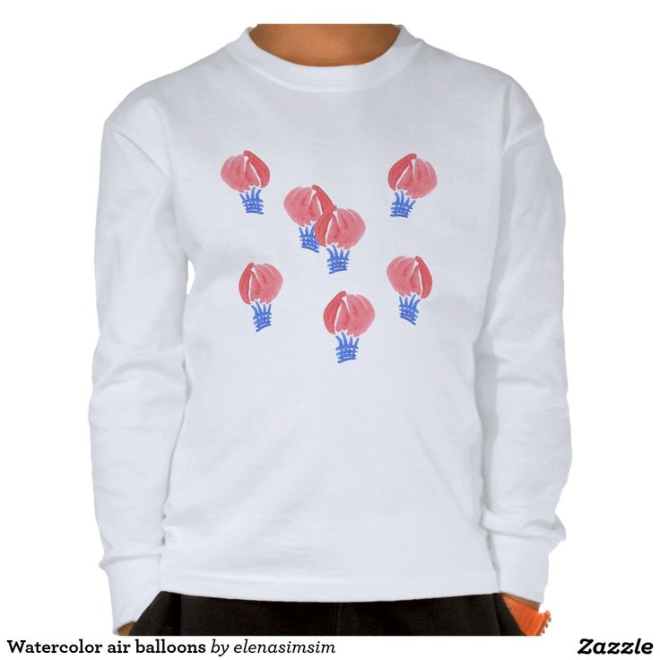 Kids' long sleeve T-shirt with air balloons