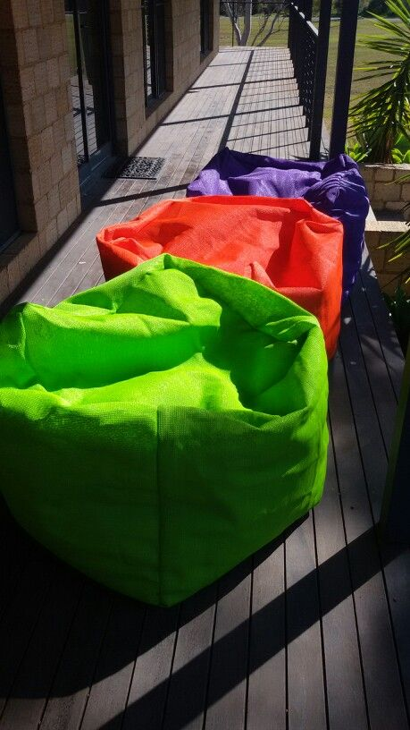 Shade cloth beanbags love the awesome colours ianscamperd
