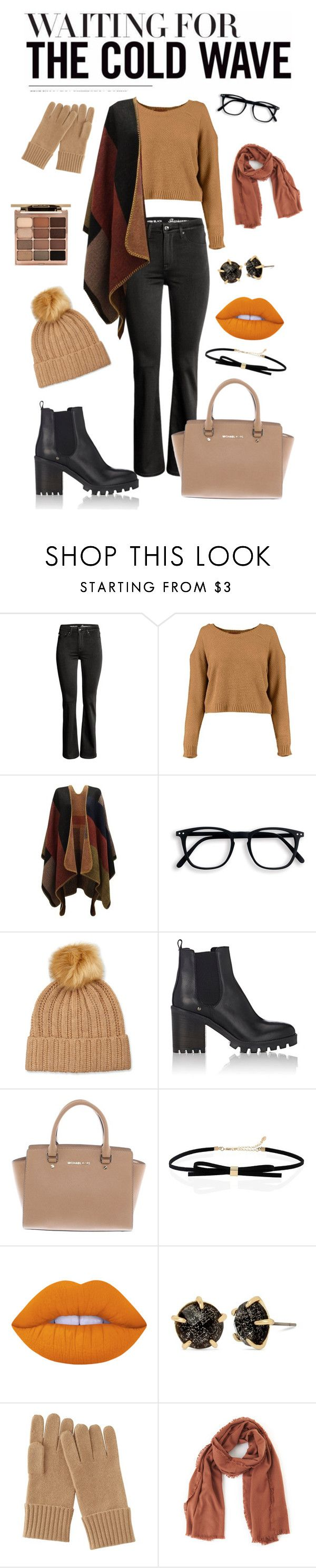 """""""Best Trend 2016: Neutrals, Cut Out Sweaters, Chokers, & Orange Lips"""" by stellap123 ❤ liked on Polyvore featuring Neiman Marcus, Barneys New York, Michael Kors, Lime Crime, Betsey Johnson, Uniqlo, TIBI, Stila, neutrals and choker"""