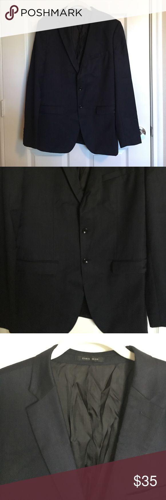 Black Zara Suit Jacket Black men's suit jacket, worn only once. Perfect condition, only needs some ironing. Zara Suits & Blazers Sport Coats & Blazers