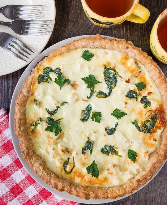 Пирог со шпинатом и фетой | Выпечка | Вкусный блог - рецепты под настроение