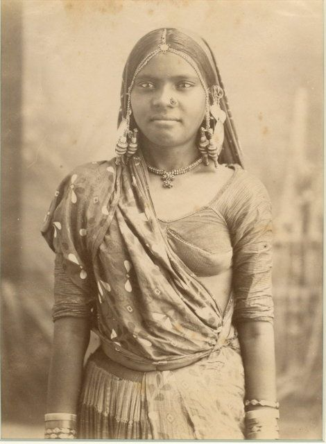 Portrait of a Sinhalese Girl Wearing Ornaments -1880s