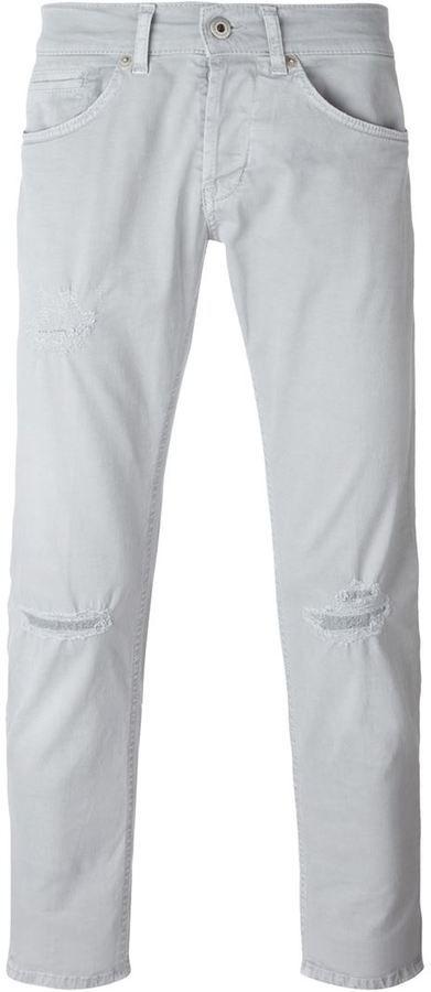 Dondup knee distressed straight leg jeans