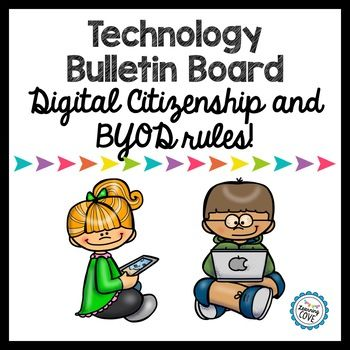 What you get: **Technology in an iphone font for your Bulletin Board **BYOD (Bring your own Device) rules and reasons why it is a privilege ** Digital citizenship guidelines ** graphics for your bulletin board