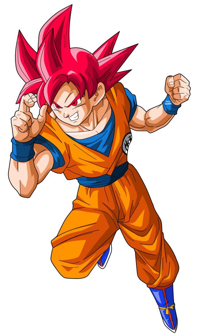 Goku SuperSaiyajin God by SaoDVD.deviantart.com on @DeviantArt
