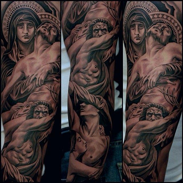 Les magnifiques tatouages de statues de Jun cha   Inkage