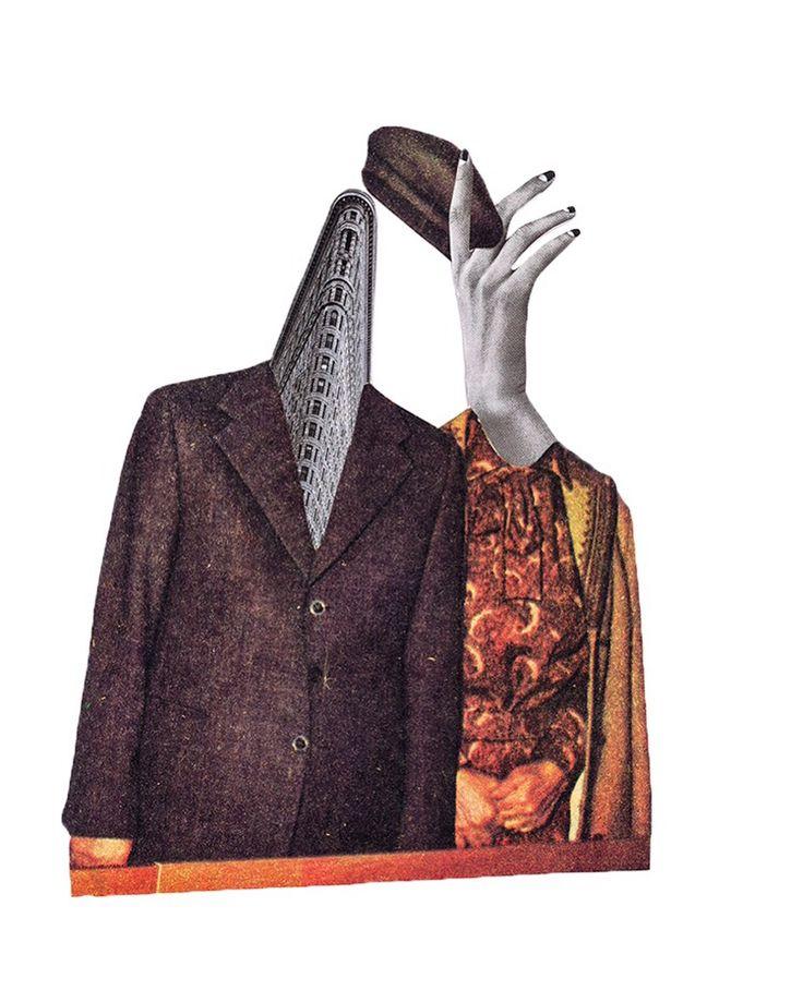 The Flatiron Building 1902✂️ Analog collage by Mihaela Nastase