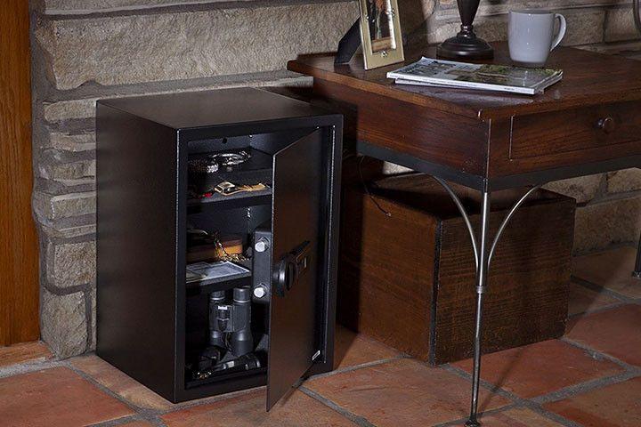 Stack On Biometric - Ex-Large Personal Safe w/Biometric Lock 2-Shelves