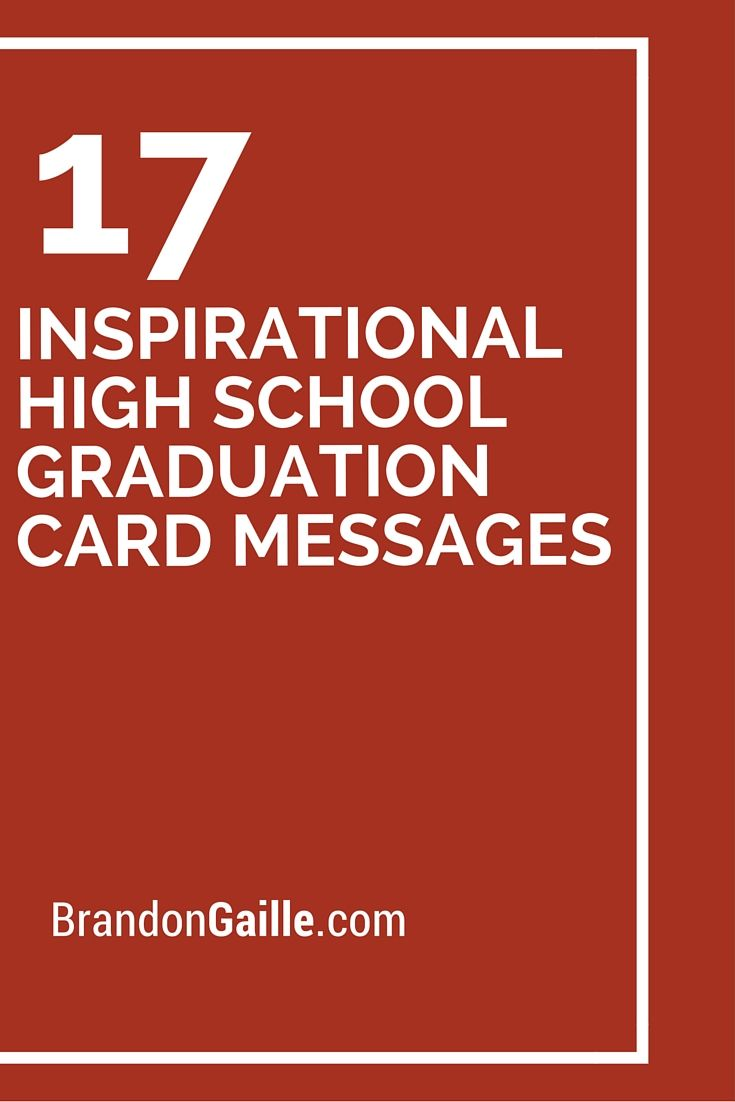 17 Inspirational High School Graduation Card Messages