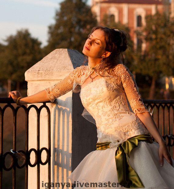 """Купить Болеро """"Свадебное"""" - свадебное болеро, ирландское кружево, болеро, вязаное болеро, свадьба"""