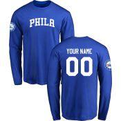 Men's Philadelphia 76ers Design-Your-Own Long Sleeve T-Shirt- - NBA Store