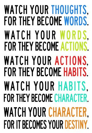 Watch Your Thoughts for They Become Words... | Click here for some great image-quote prints.