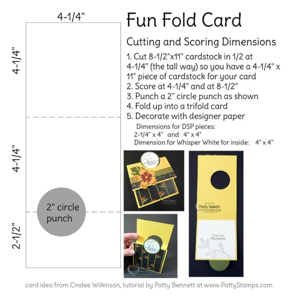 Stampin' Up! Fun Fold Card Video Tutorial | Patty's Stamping Spot | Bloglovin'