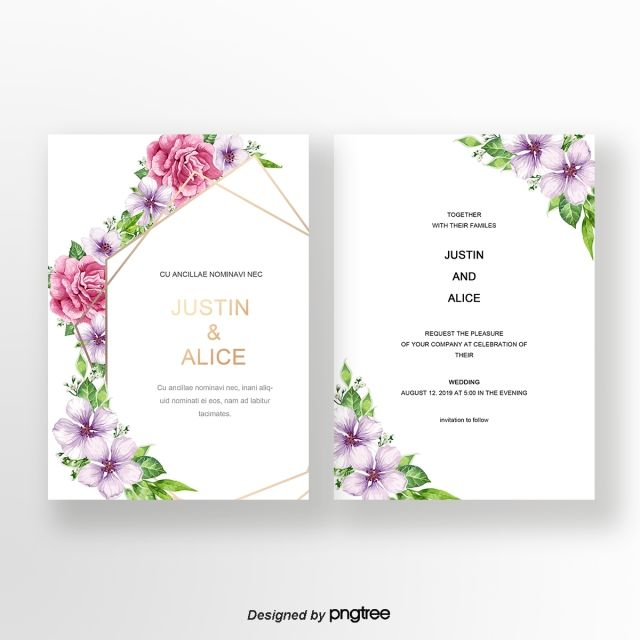 Flower Flower Positive And Negative Wedding Invitation Card Wedding Invitation Card Design Wedding Invitation Cards Wedding Invitations