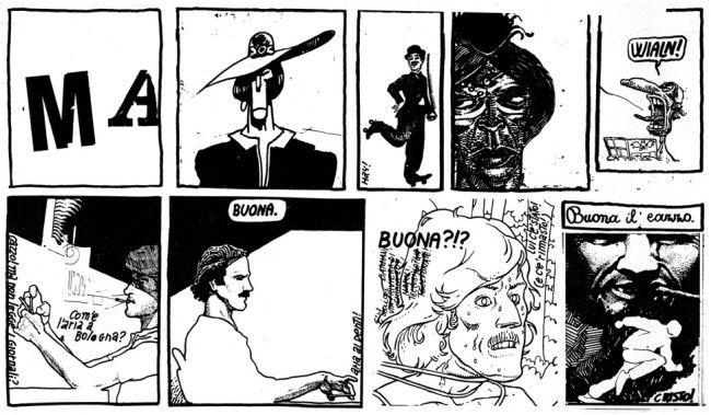 Andrea Pazienza, La Rivoluzione non si cancella (particolare), in La Congiura de Pazzi, 1978
