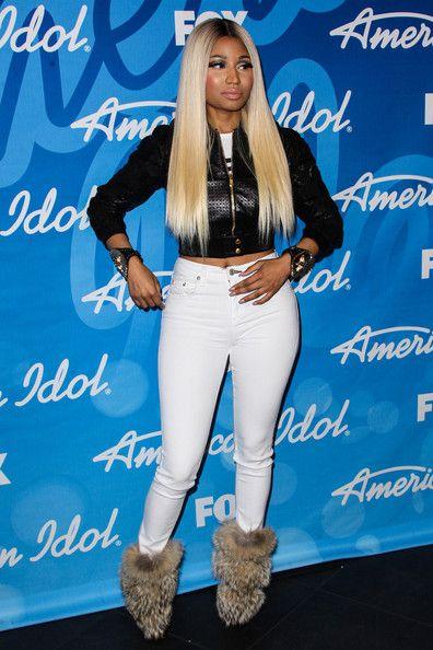Nicki Minaj Photos - Nicki Minaj poses in the press room at the 'American Idol' Grand Finale held at Nokia Theatre L.A. Live in Los Angeles. - Nicki Minaj at the 'American Idol' Finale in LA