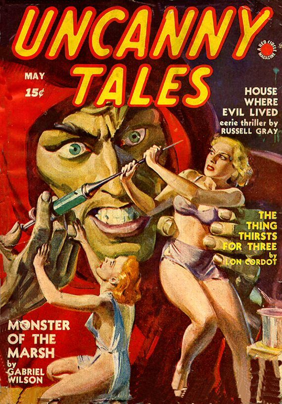 Etsy listing at https://www.etsy.com/listing/205280611/uncanny-tales-vintage-us-pulp-magazine
