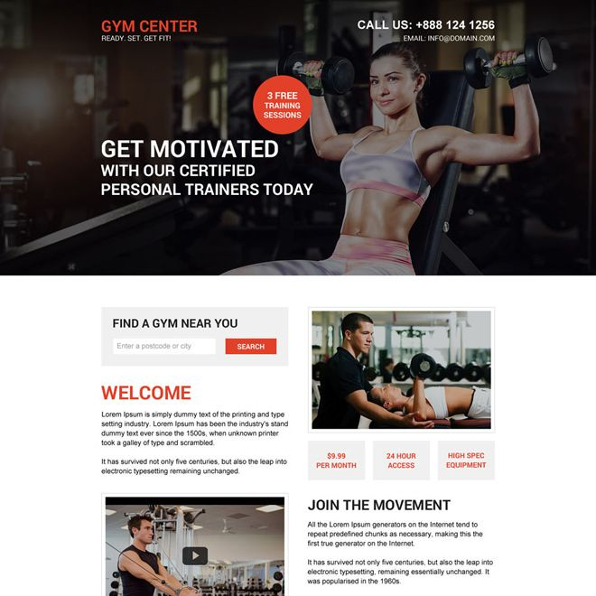 Download Muscle Building Workout Responsive Landing Page Design At Am Affordable Price From Https W Muscle Building Workouts Landing Page Design Build Muscle
