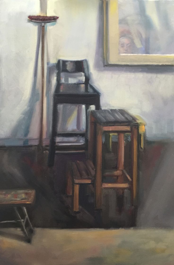 A broom of one's own  Oil on canvas 75.5x55.5cm