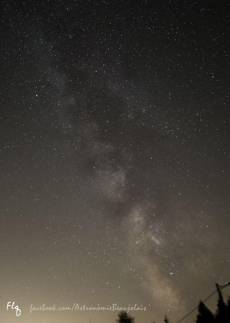 Voie Lactée et nébuleuses du Sagittaire. Avenas septembre 2015