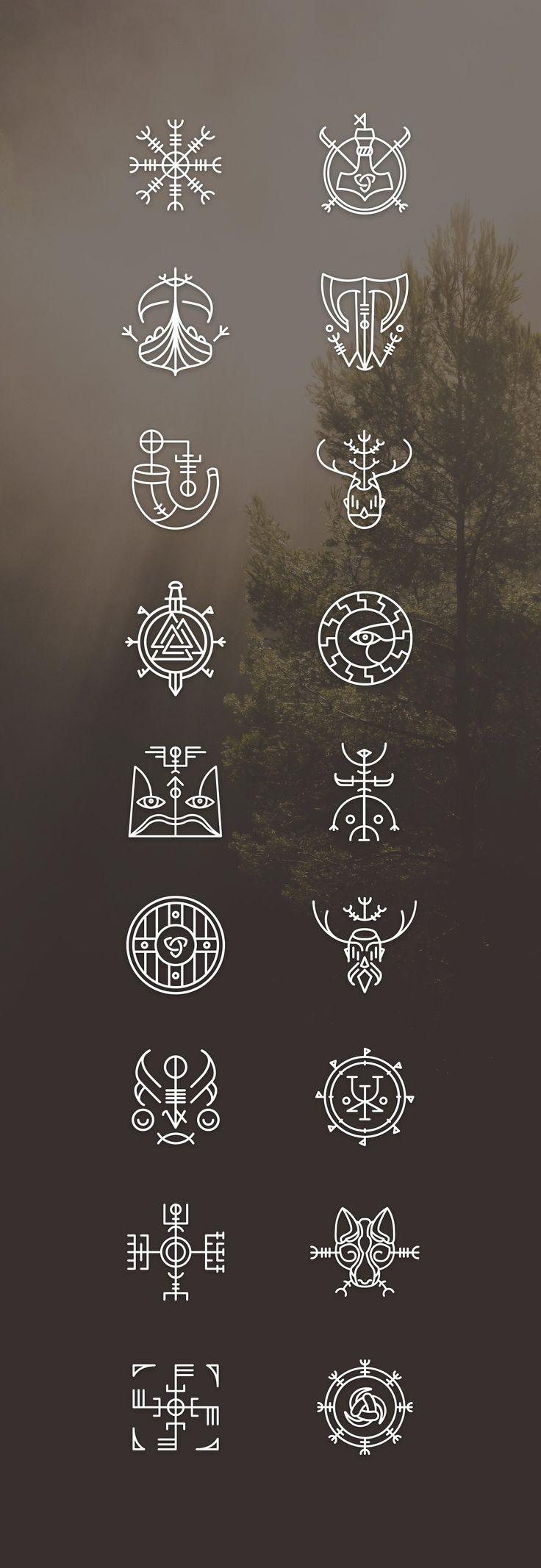 Vikons: the Striking #Viking #icon set by blanaroo…