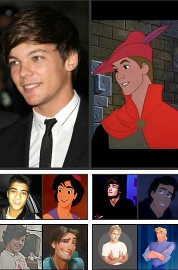 One Direction and Disney princes <3 So great