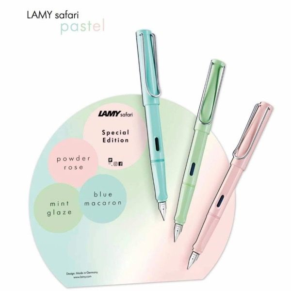 Extra Fine NIB Lamy Safari Pastel Rose 2019 Special Edition Fountain Pen