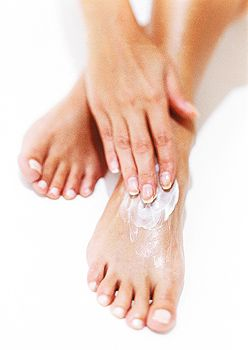 Condition and soften feet with the nourishing Moisturizer for feet.  http://www.shzen.co.za/feet_deodorising.php