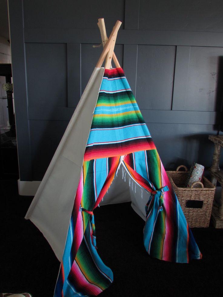 Serape teepee play tent by TinyTeePee on Etsy https://www.etsy.com/listing/255089833/serape-teepee-play-tent