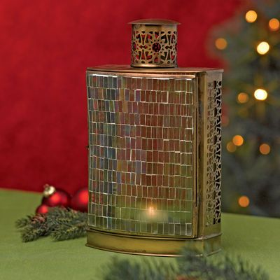Spruce Up Your Holiday Lighting With This Iridescent Mosaic Lantern From Www .GardenersSupply.com
