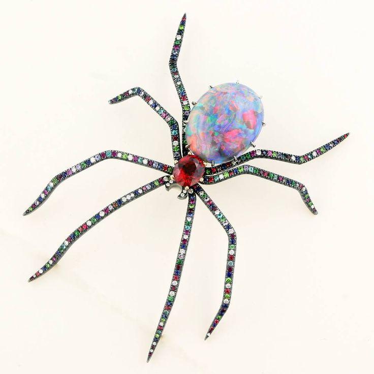 Opal spider brooch #AustraliaOpal #opalsaustralia