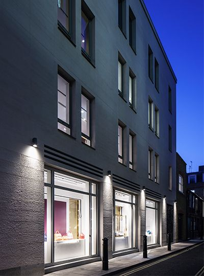 Nulty william son mayfair exterior architectural for Retail exterior design