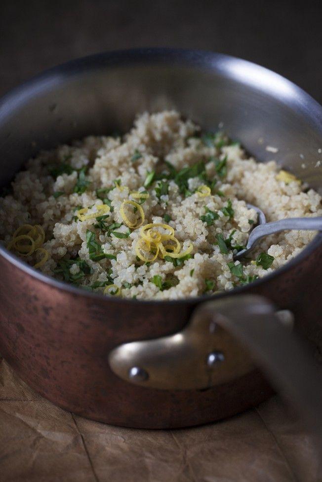 quinoa in pot