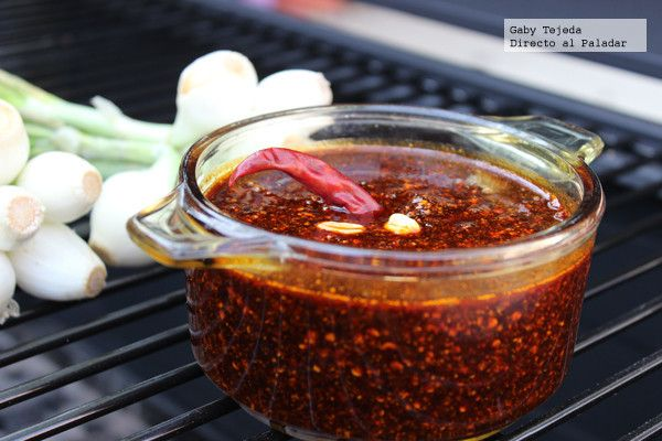 Salsa de chile seco y aceite agtc c m d a