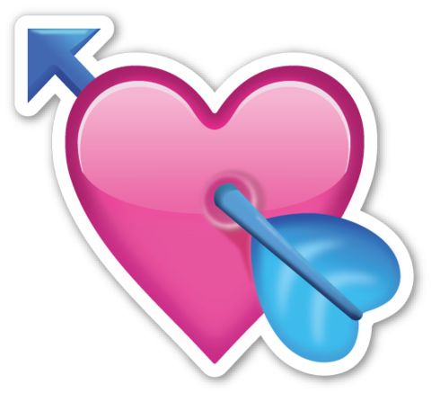 Heart with Arrow | EmojiStickers.com