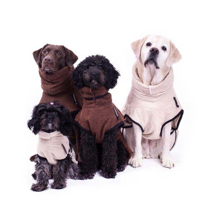Hundebademantel Dryup Cape Braun Beige Lotte Anna Hunde
