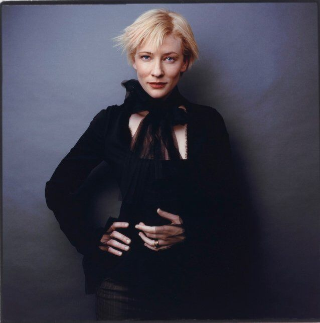 Photographer: Karin Catt Title: Cate Blanchett Date: 2002 Size: 47.5 x 46.6cm Medium: type C photograph  URL: http://www.portrait.gov.au/portraits/2005.111/cate-blanchett  This image is of Cate Blanchett her facial expression is very relaxed and her smile is in almost a smirk. One hand is on her hip giving her a very relaxed look.  The photographer has made the mood very relaxed and chilled out from Cate's facial expression even though she is wearing dark clothing and there is a dark…