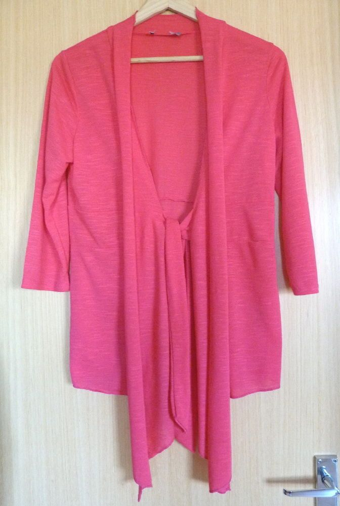 d0651f63144 Per Una Ladies Cardigan 10 Pink Summer Lightweight Holiday Cover Up M   fashion  clothing