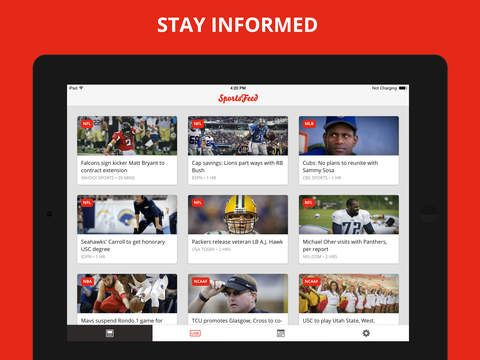 Sports Feed – Team News, Live Scores, Highlights, Stats for Major & College Football, Basketball, Baseball, Hockey and Soccer by SportsFeed LLC