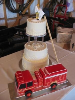 Firetruck groom's cake