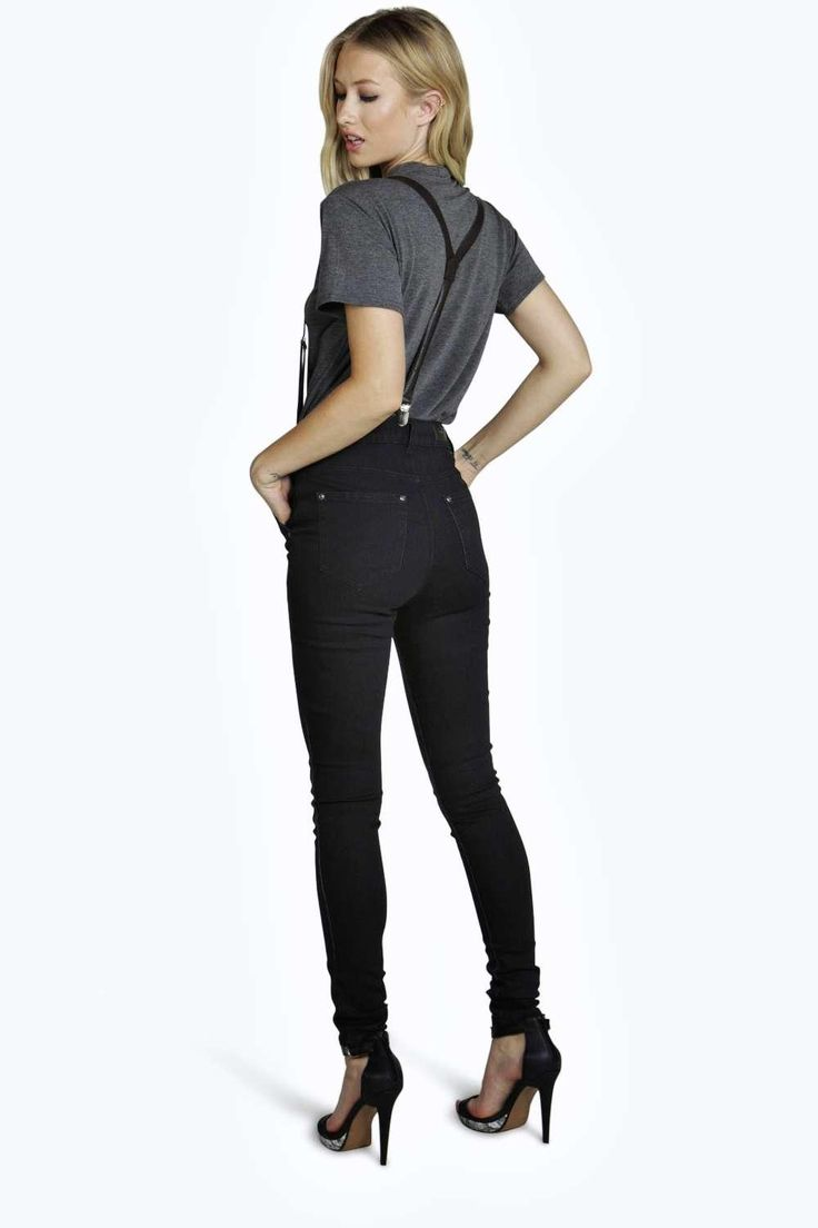 Sophia Super Skinny High Rise With Braces Jeans