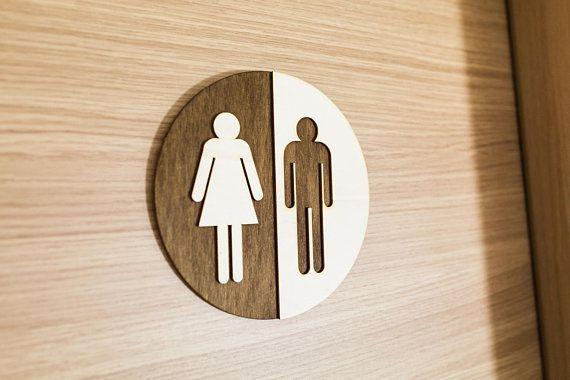 Wooden Bathroom Sign Rustic Toilet Door Plate Wood Toilet Door Sign Toilet Door Rustic Toilets