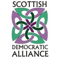 The logo of the Scottish Democratic Alliance